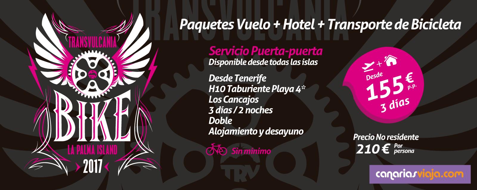Paquetes Vuelo + Hotel + Transporte de Bicicleta