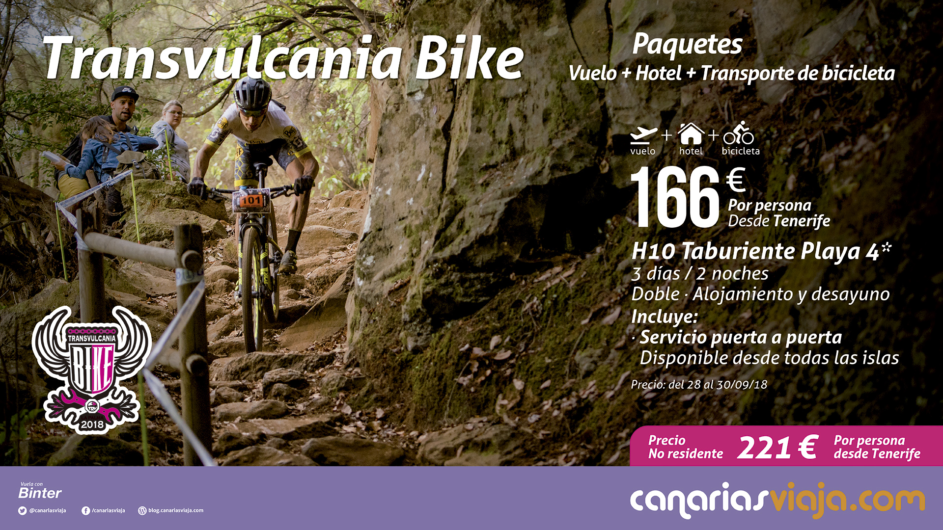 Paquetes TRV BIKE Vuelo + Hotel + Bici